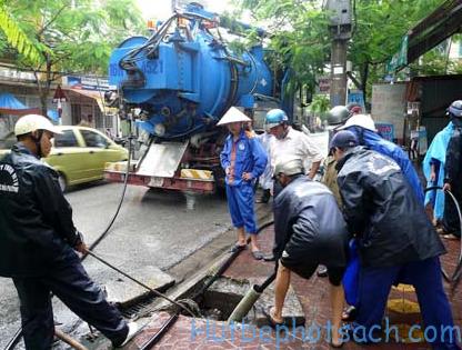 Thông hút bể phốt tại Hà Nội