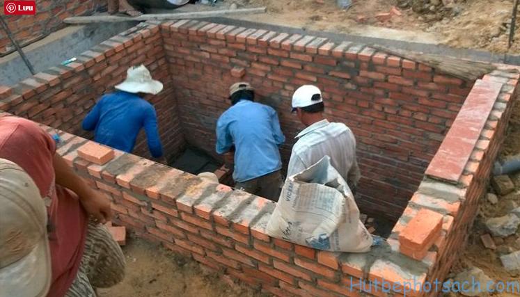 Quá trình xây dựng bể tự hoại 2 ngăn