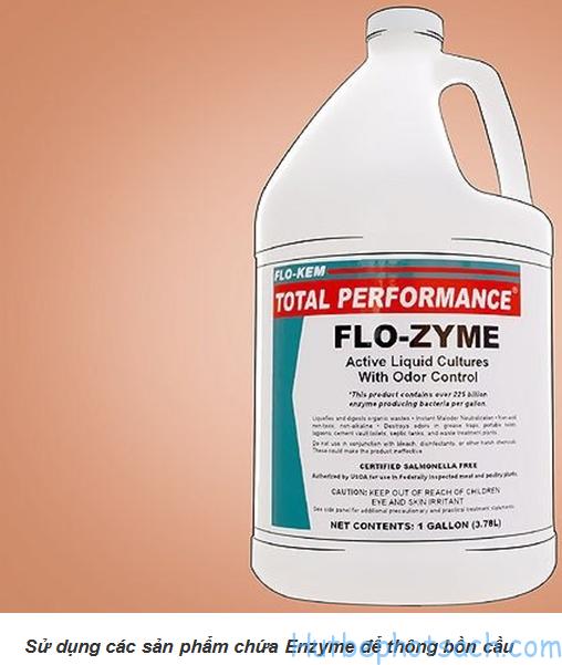 Thông tắc bồn cầu với các sản phẩm Enzyme