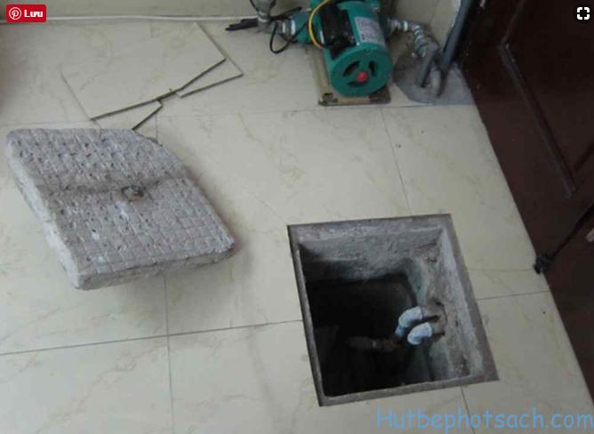 bể nước ngầm bị ngấm nước thải bể phốt