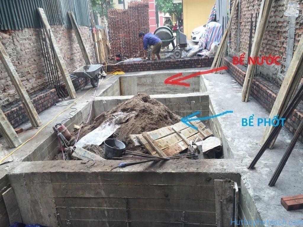Cách xây và đặt bể phốt trong nhà cho gia chủ đúng quy cách