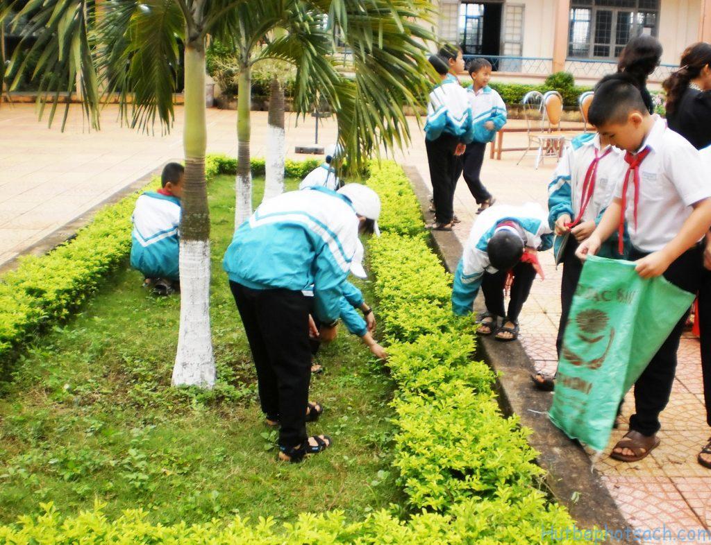 Học sinh bảo vệ môi trường