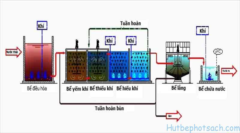 Nguyên lý vận hành bể Anoxic