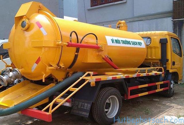 Dịch vụ hút bể phốt Sạch tại Khương Mai